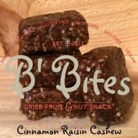 Cinnamon Raisin Cashew Energy Bites