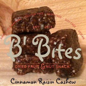 Cinnamon Raisin Cashew Energy Bites