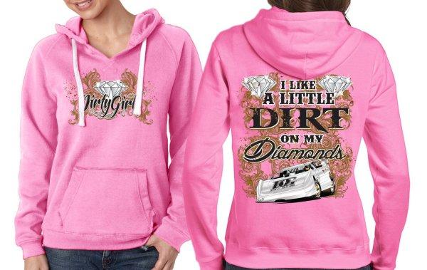 Dirt on My Diamonds Pink Hoodie.jpg