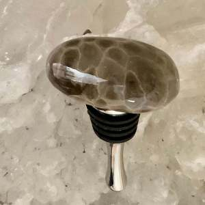 Petoskey Stone Wine Bottle Stopper