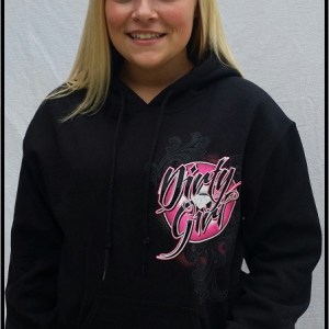 Dirt Late Model Dirty Girl Hoodie