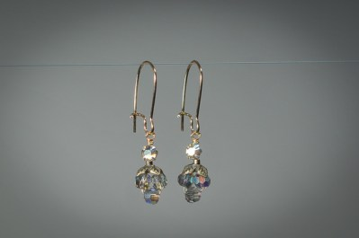 Black Diamond Crystal Earrings