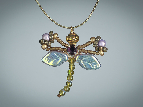 Amethyst Dragonfly Necklace