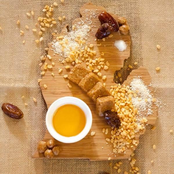 Peanut Butter Crisp Energy Bites Ingredients