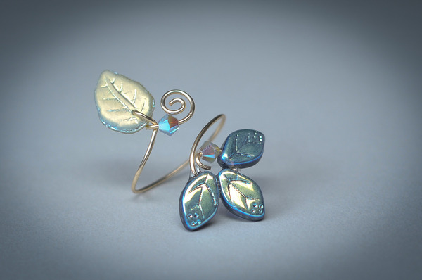 Montana Blue Classic Leaf Ring