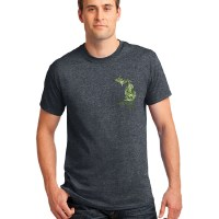 Dark Heather Green Michigan Camo Tee