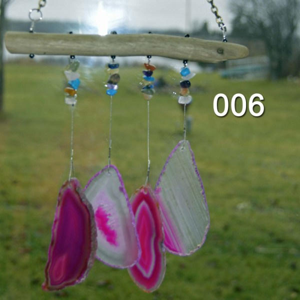 006 Agate Wind Chimes Strung On Lake Superior Driftwood