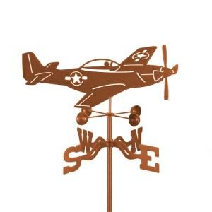 Airplane P-51 Mustang Weathervane