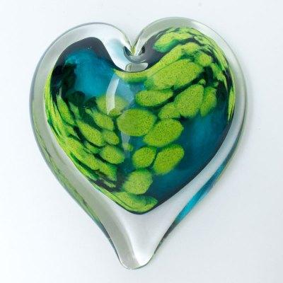 Tallulah Blown Glass Heart Paperweight