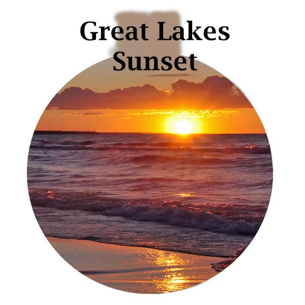 Metal Photo Ornament Great Lakes Sunset