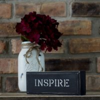 Black Rustic Shabby Chic Inspire Sign