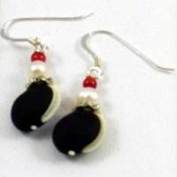 Hyacinth Bean Earrings