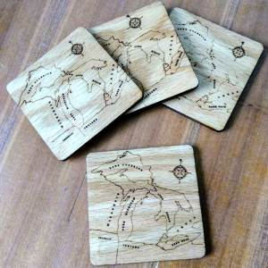 Michigan Nautical Coaster Set