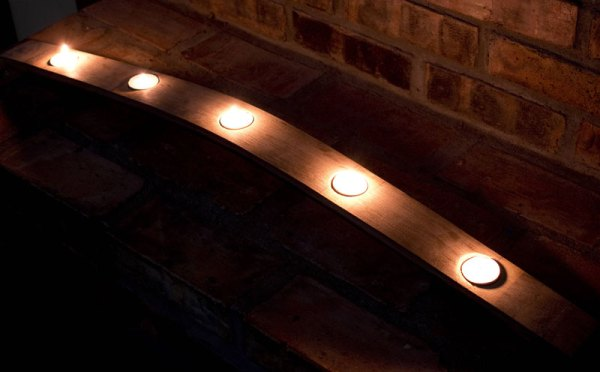 5 Candle French Oak Wine Barrel Candle Stave