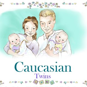 Caucasian Twins Family Book