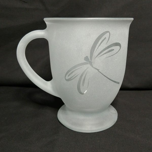 Engraved Coffee Mug Dragonfly