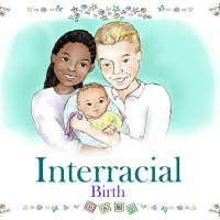 Personalized Interracial Family Book African American Mom Caucasian Dad
