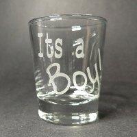 Engraved Shot Glass It's a Boy