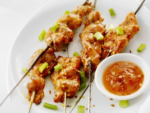 Thai Sweet Spicy Garlic Sauce on Thai Sweet and Spicy Chicken Skewers