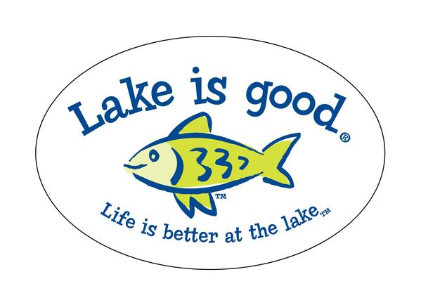 Lake Is Good Decal Fish