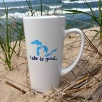Great Lakes Lake is Good Latte Mug
