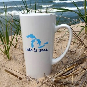 Great Lakes Lake is Good Latte Mug