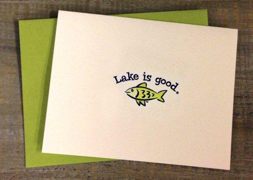 Fish Lake Is Good Notecards