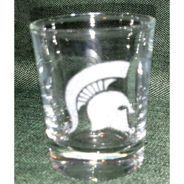 Engraved Sparty Shot Glass