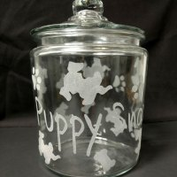 Engraved Personalized Dog Treat Jar