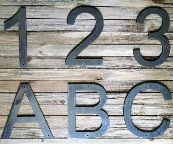 Metal Block Letters Numbers