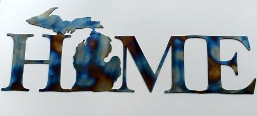 Michigan HOME Metal Sign