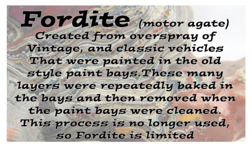 Fordite Info Card
