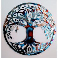 Tree of Life Metal Sign Burnt