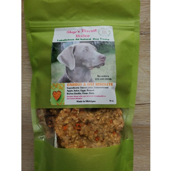 Carrot & Oat Dog Biscuits Package