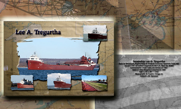 Nautical Postcard Set Lee A Tregurtha ship
