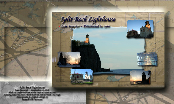 Nautical Postcard Set Split Rock Lighthouse