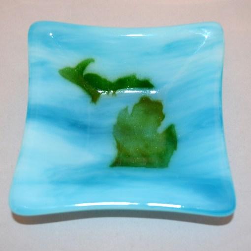 Michigan Dish Green & Blue