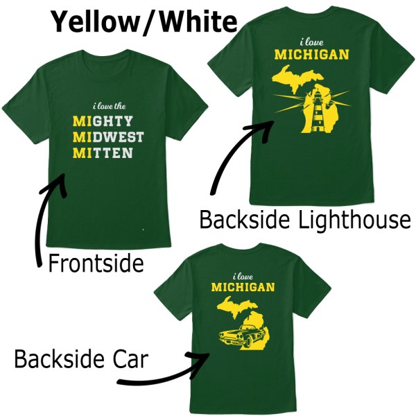 Mighty Midwest Michigan Tshirt