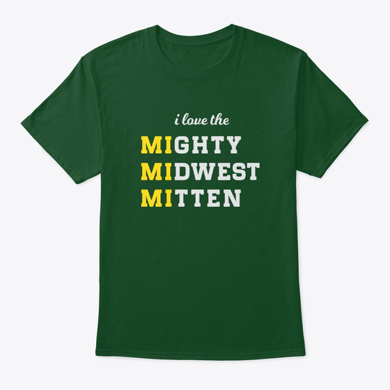 MIghty MIdwest MItten Tshirt Green