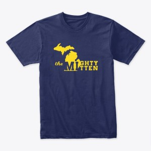 The Mighty Mitten Tshirt Navy