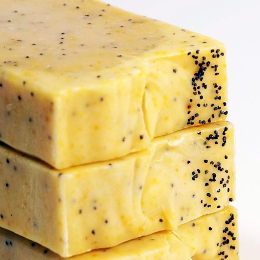 Lemon Mango Poppy Seed Soap