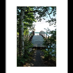 Rock River Foot Bridge Print
