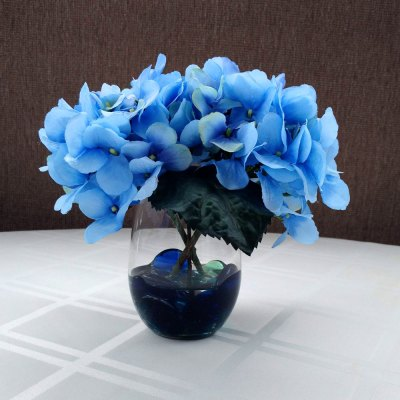 Silk Blue Hydrangea Floral Arrangement