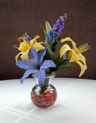 Liatris and Lilies Floral Arrangement