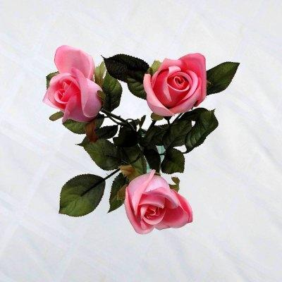 Silk Romantic Pink Roses Floral Arrangement