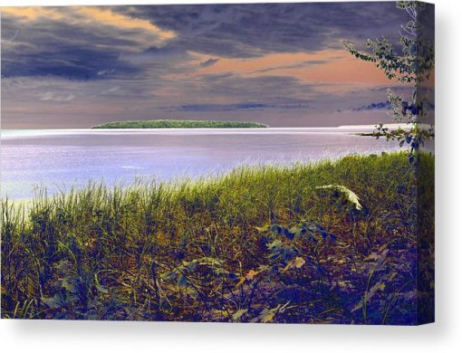 Fall Approaching Au Train Island Canvas Print