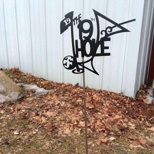 The 19th Hole Yard Stake