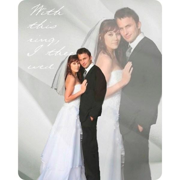 bride groom wedding magnet