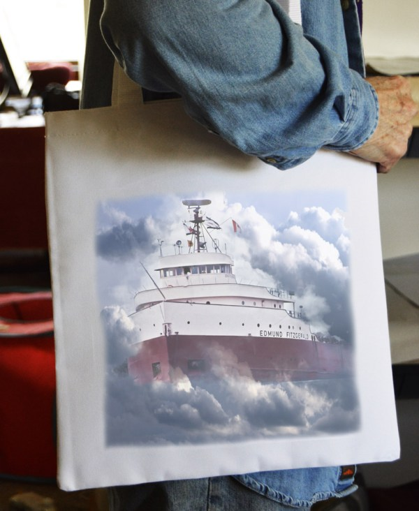 Tote Bag Edmund Fitzgerald Clouds