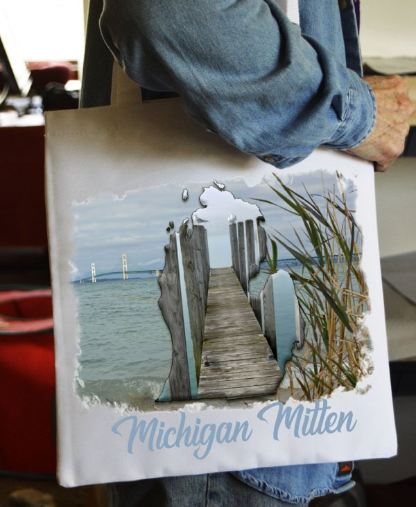 Tote Bag Michigan Mitten